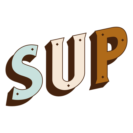 Stand up paddling 3d lettering
