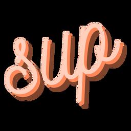 Standup paddling cursive lettering