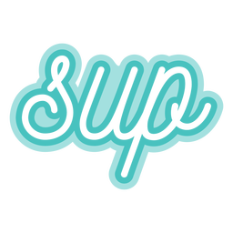 Paddleboarding sup cursive lettering
