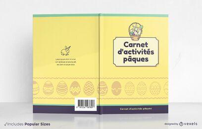 Design de capa de livro de atividades de Páscoa