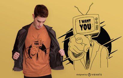 Te quiero diseño de camiseta