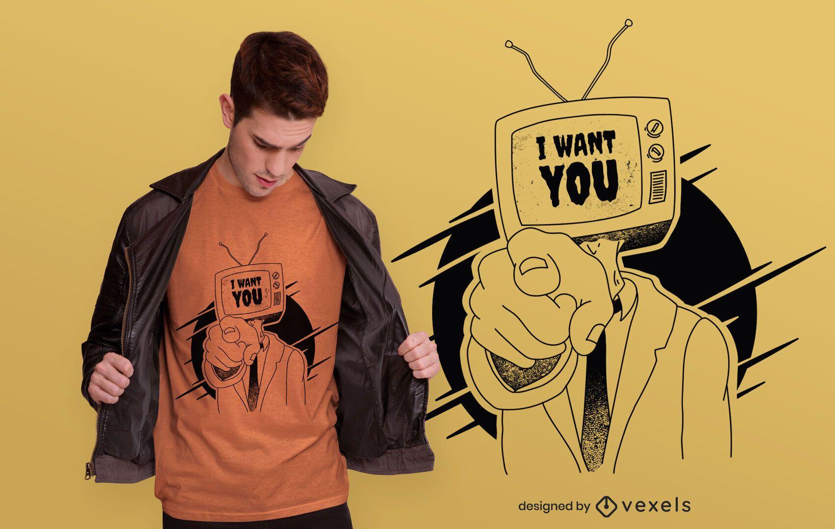 I want you t-shirt design