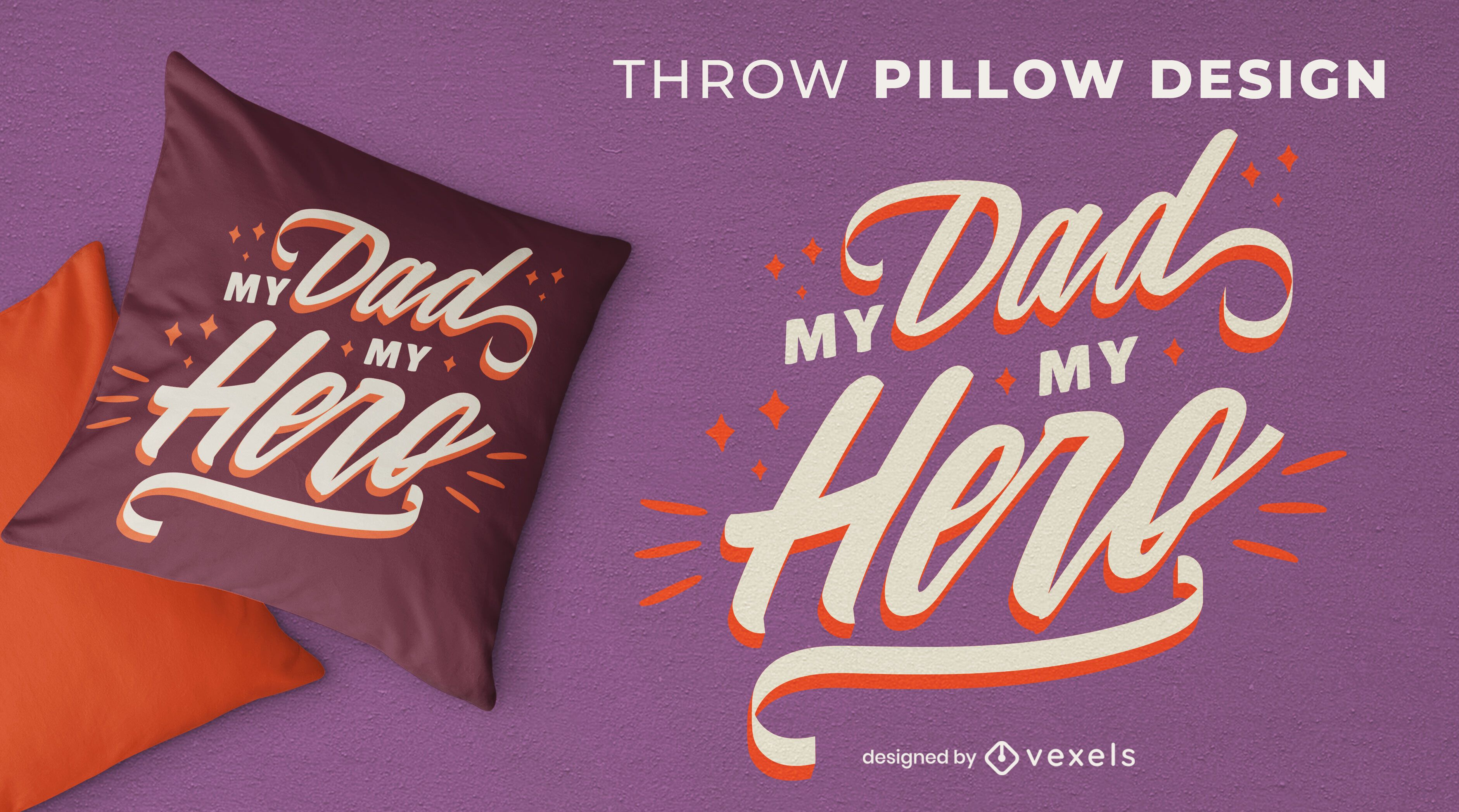 Father's day quote throw pillow design