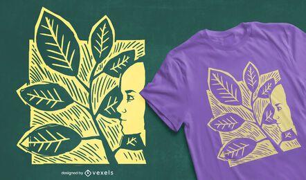 Diseño de camiseta de mujer deja