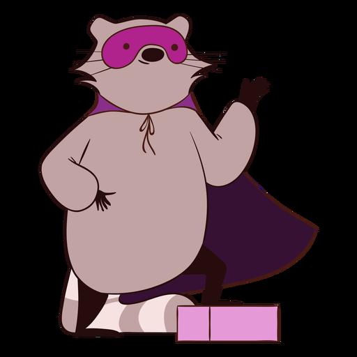 Raccoon superhero cartoon