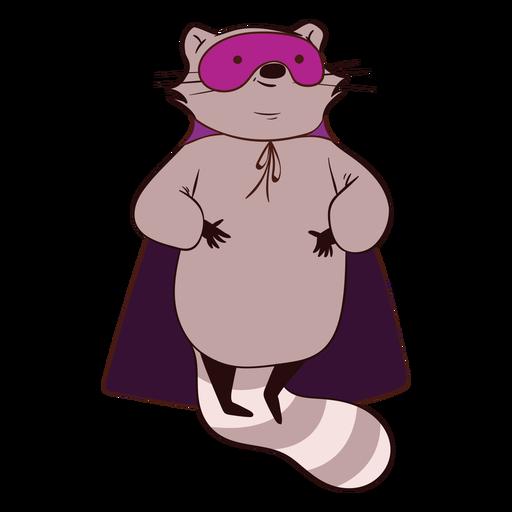 Raccoon hero flying cartoon
