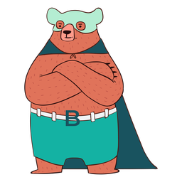 Bear hero cartoon
