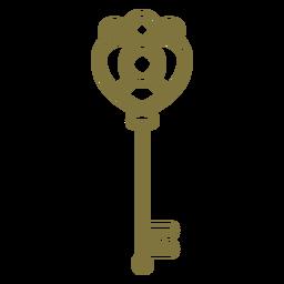 Antique delicate key