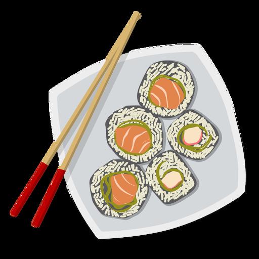 Sushi illustration japanese food