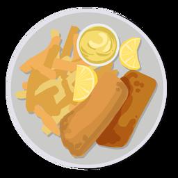 Fish and chips british food