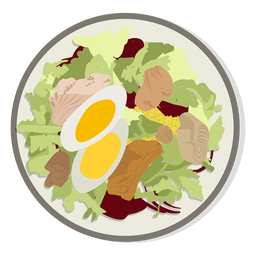 Chicken salad illustration