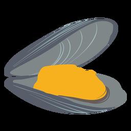Clam sea illustration