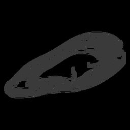 Seashell sea hand-drawn