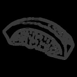 Mariscos dibujados a mano - 2