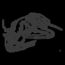 Crab sea hand-drawn