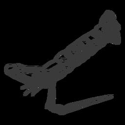 Mariscos dibujados a mano - 6