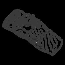 Mariscos dibujados a mano - 12