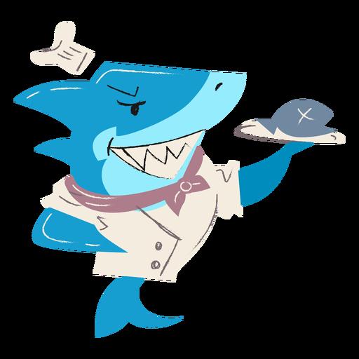 Carácter de plato de pescado de cocina de tiburón