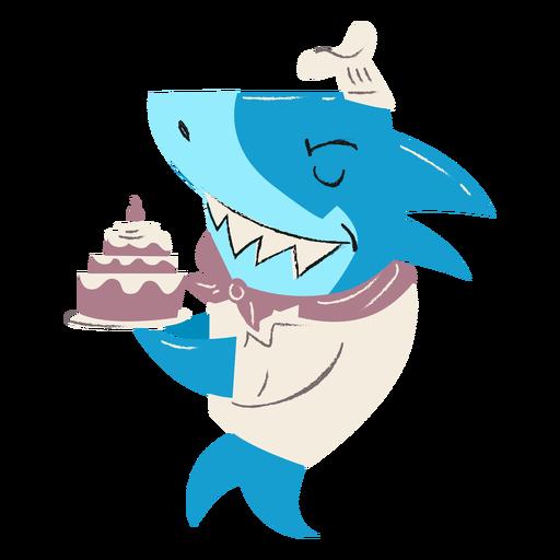 Shark baker cake character
