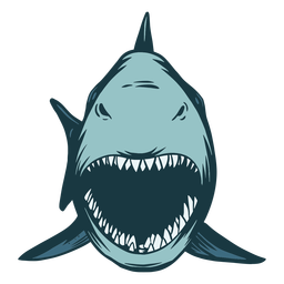 Jaw shark illustration