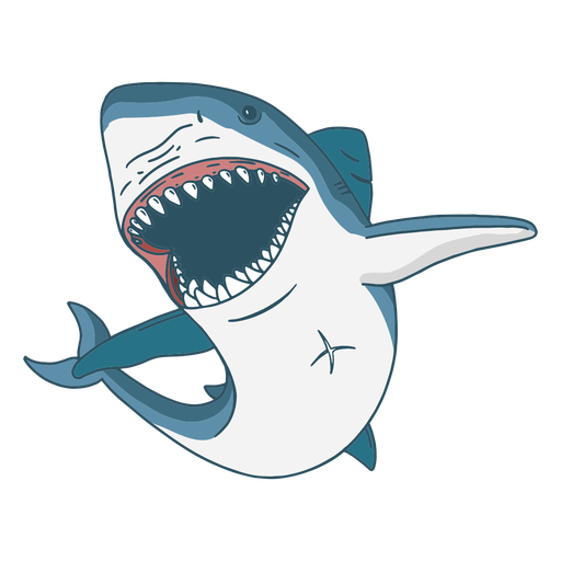 Scary shark illustration