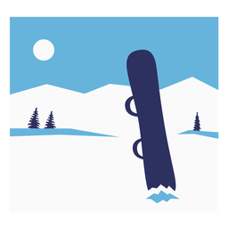 Snowboard composition flat