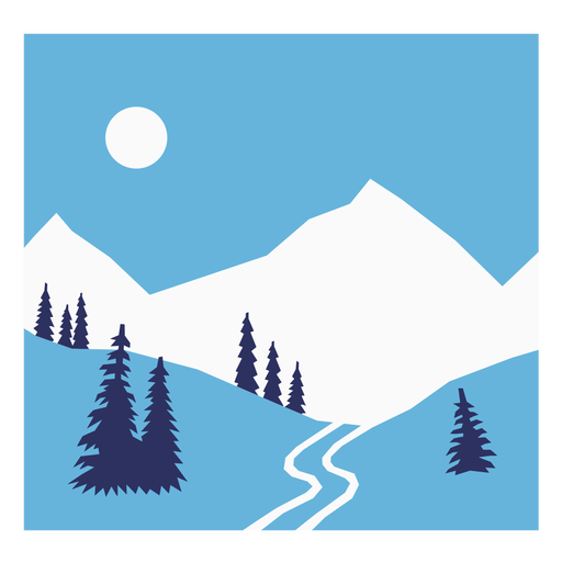 Snow ski composition flat