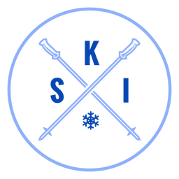 Ski poles badge