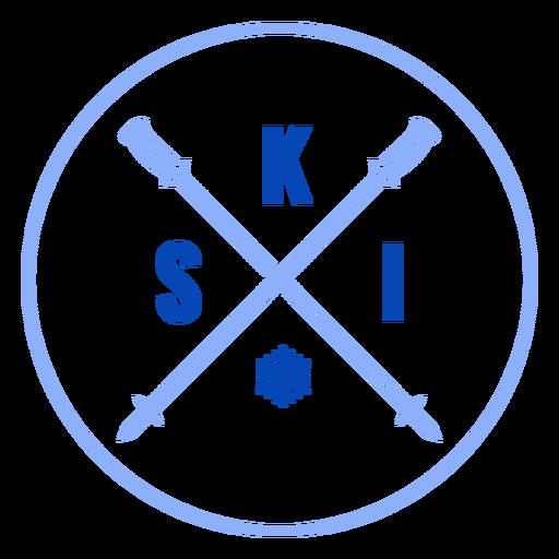 Insignia de bastones de esquí