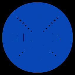 Insignia de esquí con esquís