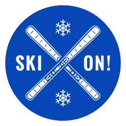 Ski on skis badge