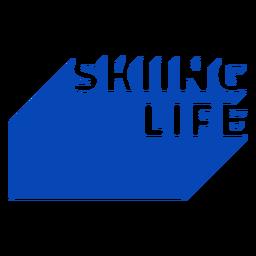 Skiing life ski badge