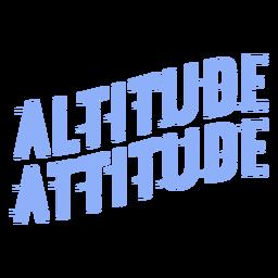 Altitude attitude ski lettering