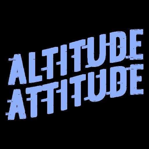Letras de esquí de actitud de altitud