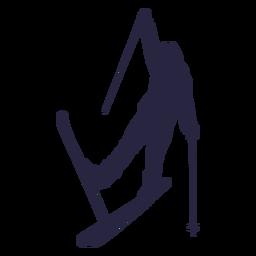 Skier people silhouette