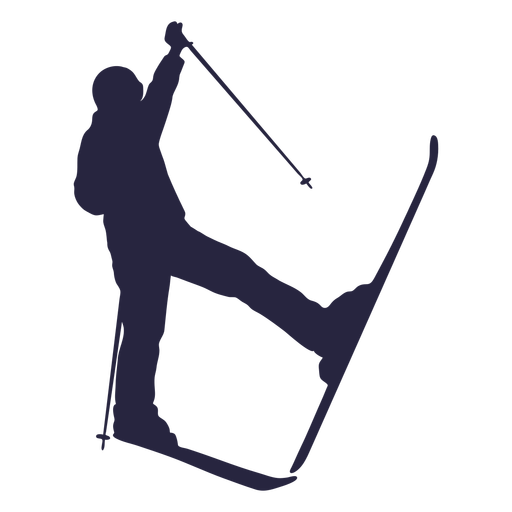 Skiing person silhouette