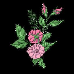 Floral arrangement illustration