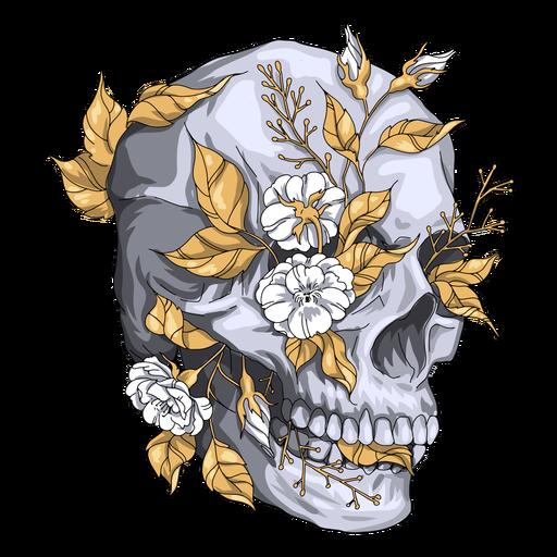 Plants skull illustration