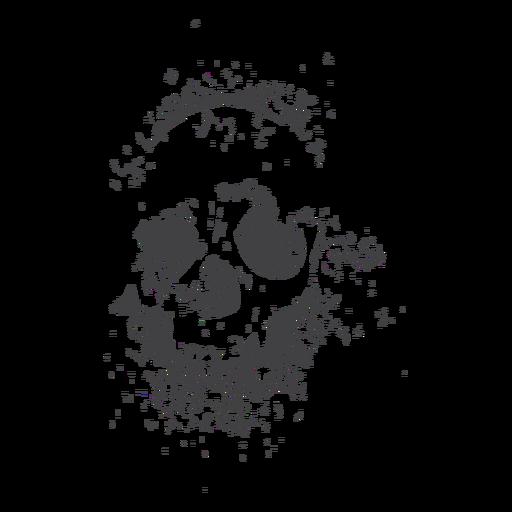 Washed-out grunge skull Transparent PNG