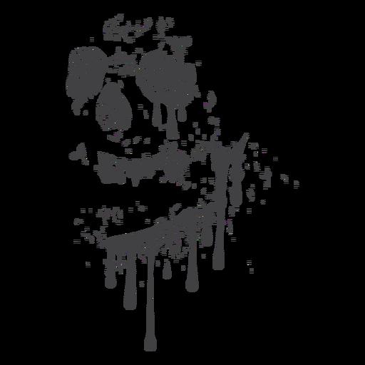 Grunge de goteo de cráneo