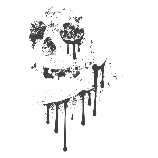 Skull dripping grunge Transparent PNG