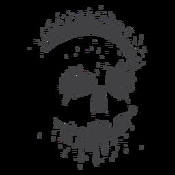 Goteo de grunge de cráneo