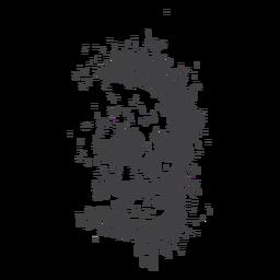 Grunge espeluznante de cráneo