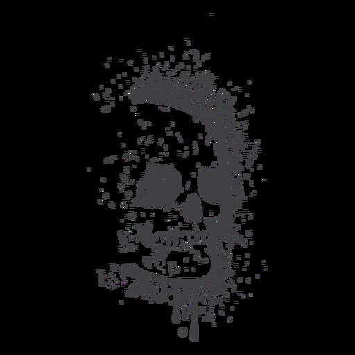 Skull creepy grunge