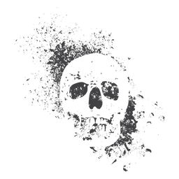 Grunge cráneo frontal