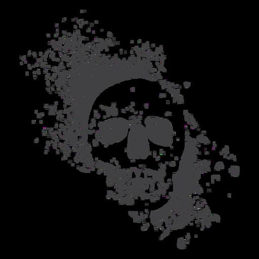 Frontal skull grunge Transparent PNG