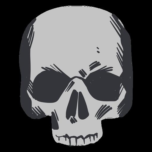 Cráneo partido espeluznante plano