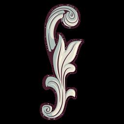 Swirly ornament illustration