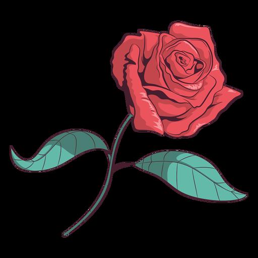 Ilustraci?n de flor rosa