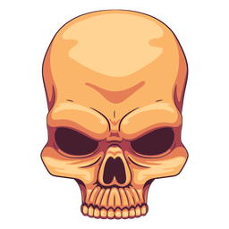 Creepy skull illustration